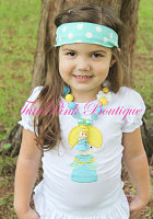 Headband Knotted Turquoise White Polka Dots
