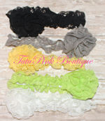 Headband Lace Black, Gray, Yellow, Lime Green, White