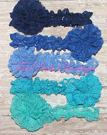 Headband Lace Navy Blue, Royal Blue, Blue, Turquoise, Teal