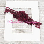 Headband Lace Burgundy