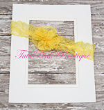 Headband Lace Yellow
