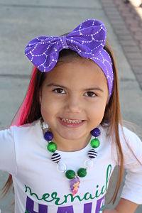 Headband Messy Bow Mermaid Purple