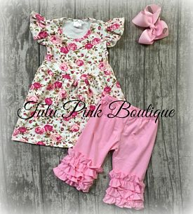 Knickers & Flutter Tunic Rose