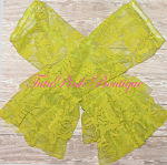 Leg Warmers Vintage Lace Lime Green