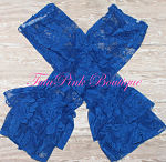 Leg Warmers Vintage Lace Royal Blue