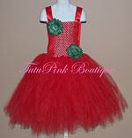 Tutu Dress Long Length Red