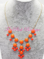 Mini Bubble Necklace Orange