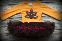 Onesie Pettiskirt Tutu Football Turkey Thanksgiving