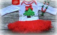 Onesie Pettiskirt Tutu Oh Christmas Tree