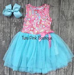 Boutique Tank Tutu Dress Paisley
