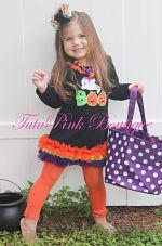 Petti Tunic Dress Halloween Ghost Boo