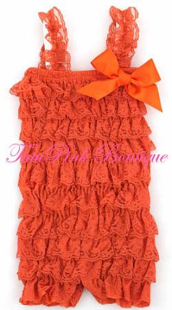 Petti Romper Lace Orange