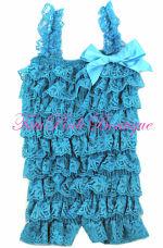 Petti Romper Lace Turquoise