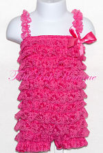 Petti Romper Lace Watermelon Pink