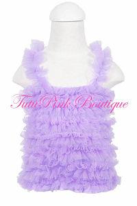 Petti Top Chiffon Ruffles Lavender