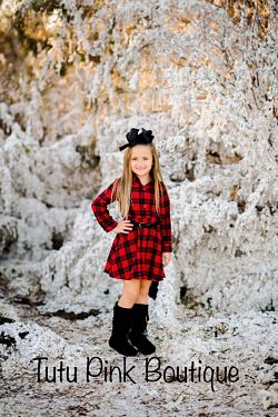 Buffalo Plaid Boutique Dress