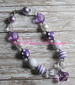 Chunky Necklace Precious in Purple Petite Series