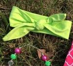 Headband Knotted Lime Green