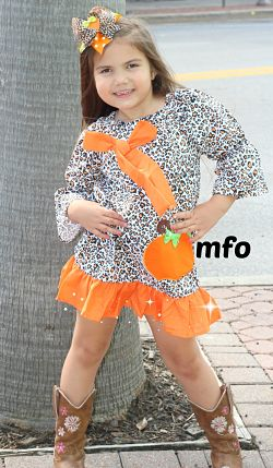 Boutique Dress Leopard Pumpkin
