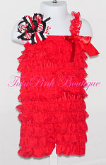 Petti Romper Lace Red