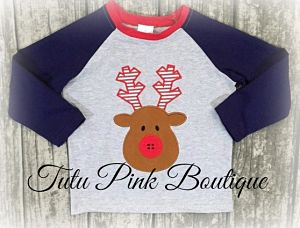 Top Boy Raglan Reindeer