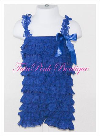 Petti Romper Lace Royal Blue