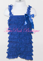 Petti Romper Lace Royal Blue