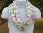 Scarf Chevron Grey