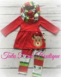 Pants Set Tunic, Scarf, and Leggings Rudolph Christmas