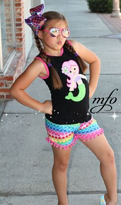 Shorts & Tank Top Set Mermaid
