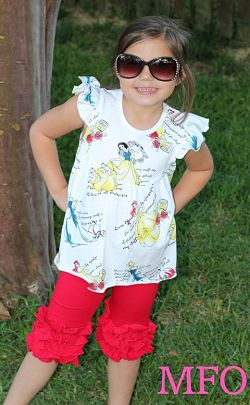 Shorts & Flutter Tunic Princess