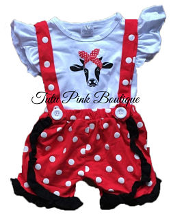 Suspenders Shorts Set Heifer