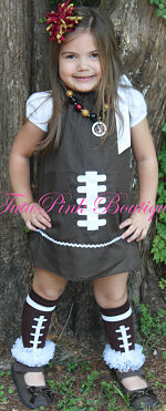 Boutique Tie Dress Game Day Touch Down Cutie Football
