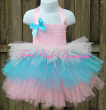 Tutu Dress Tiered Cotton Candy Birthday Princess