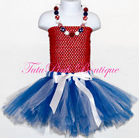 Tutu Skirt Blue & White